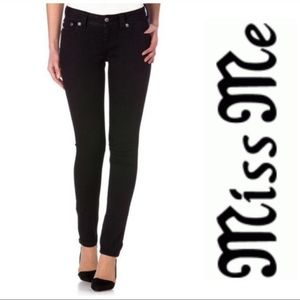 Miss Me Black Flap Pocket Skinny Jeans Size 26